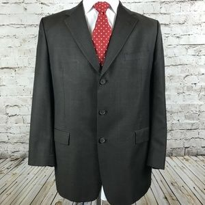 Burberry Three Button Sport Coat Size 44R Brown